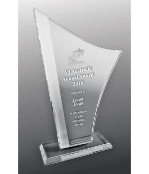 Intrepid Torch Glass Trophy-180mm