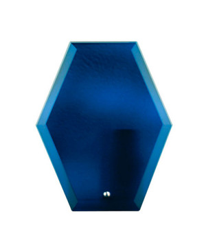 Freedom Blue Glass Hexagonal-225mm