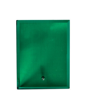Vivid Glass Green Rectangle-205mm