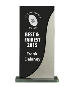 Silver Streak Black Glass Trophy-135mm