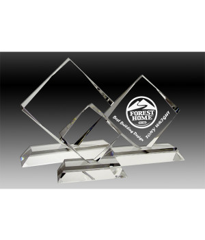 Four-Point Crystal Trophy-170mm