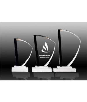 Midnight Edge Crystal Trophy-200mm