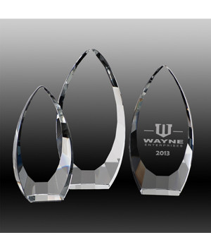 Opulent Peak Crystal Award-160mm