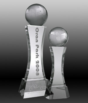 Global Pillar Crystal Trophy-220mm
