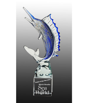 Art Glass Marlin Trophy-340mm