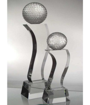 Superior Crystal Golf Trophy-230mm