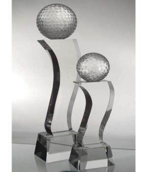 Superior Crystal Golf Trophy-230mm