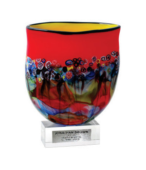 Art Glass Vase Trophy-400mm