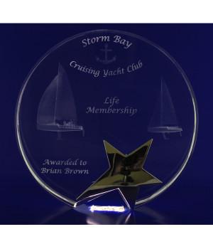 Star Round Trophy