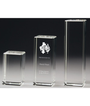 Bar Crystal Award-100mm