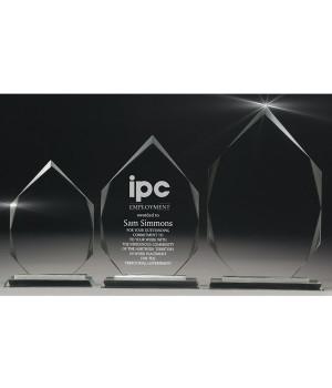 Ambassador Spear Glass Trophy-180mm