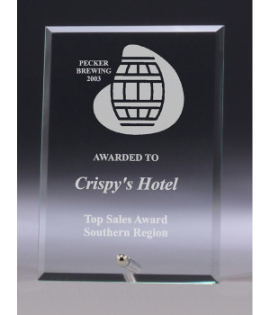Budget Plaque Glass Award-200mm