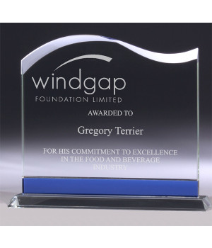 Pacific Wave Glass Trophy-180mm
