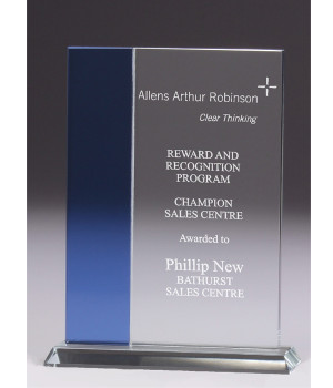 Pacific Rectangle Glass Trophy-225mm