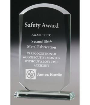 Budget Arch Glass Trophy-210mm