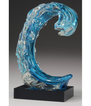Art Glass Wave Trophy-260mm