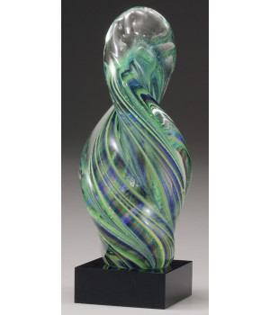 Art Glass Spiral Trophy-250mm