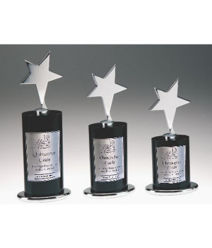 Ebony Star Crystal Trophy-210mm