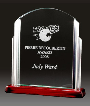 Classic Arch Jade Glass Trophy-170mm