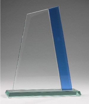 Prince Blue Zenith Glass Trophy-250mm