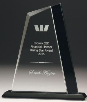 Midnight Zenith Glass Trophy-195mm