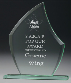 Jade Blade Glass Trophy-180mm
