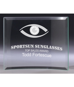 Fresco Curved Glass Award-125mm