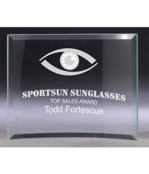 Fresco Curved Glass Award-175mm
