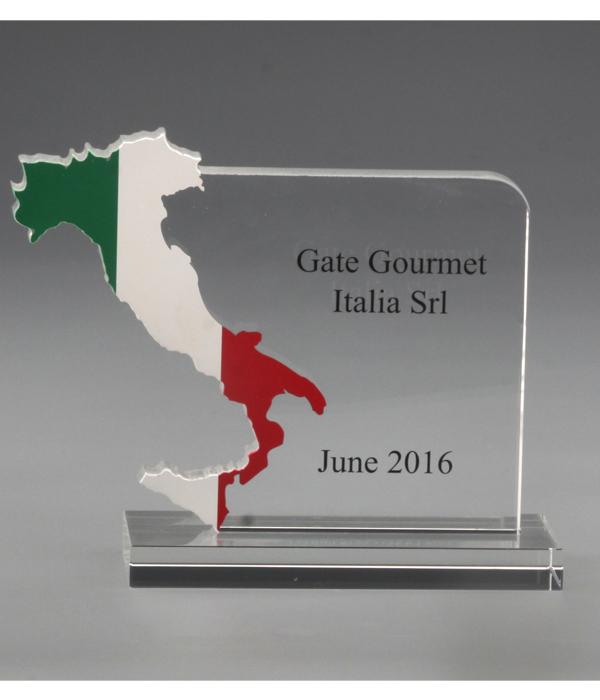 Custom Coloured Glass Trophy