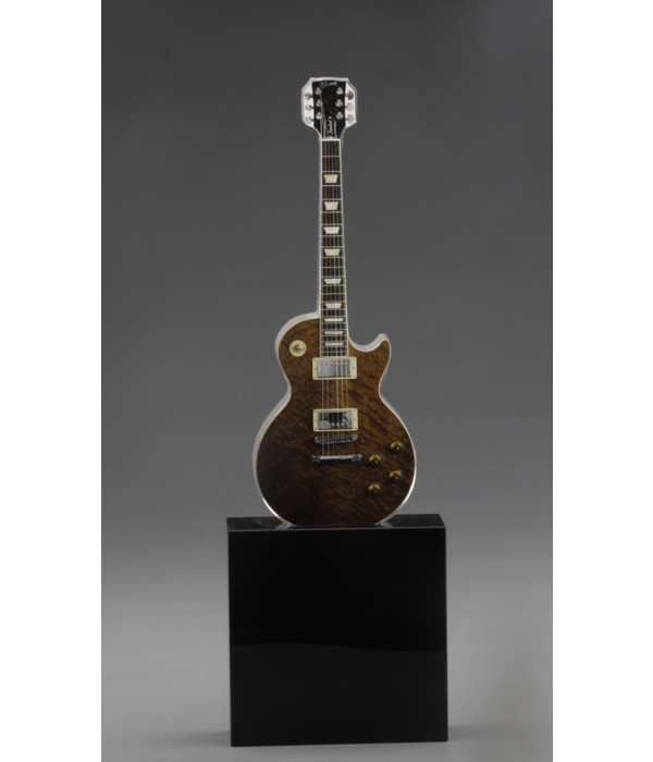 Custom Guitar Shaped Glass Trophy