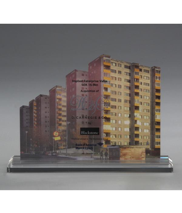 Custom Building Glass Trophy