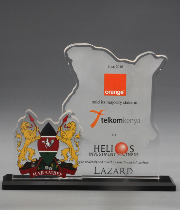 Two Layered Custom Frosted Glass Award