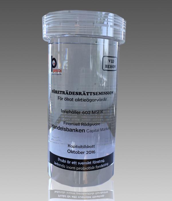 Custom Bottle Crystal Award
