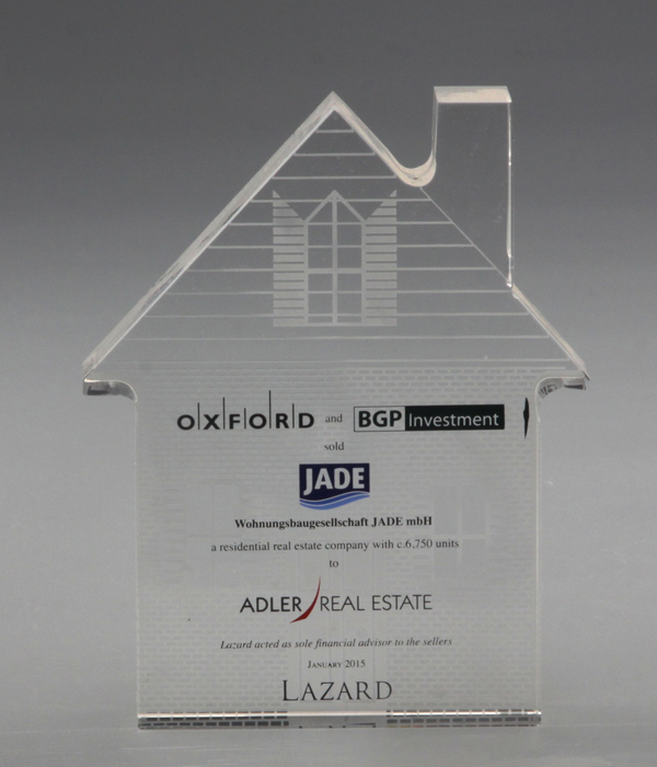Custom House Glass Award