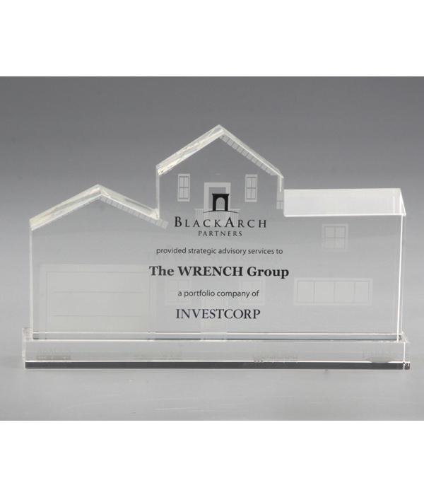 Custom House Trophy with Crystal Base